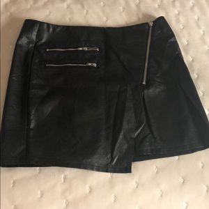 Black pleather Divided (H&M) skirt